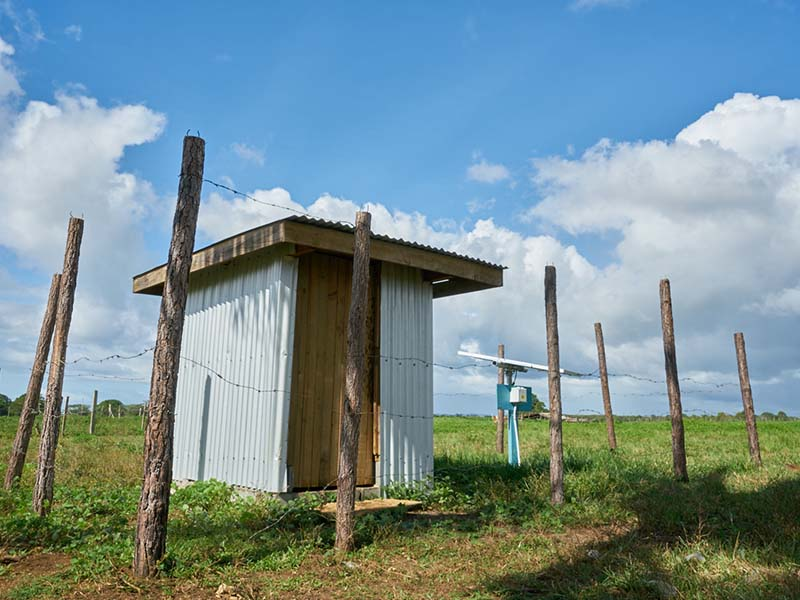 This solar-powered borehole provides safe drinking water for 50 people living in Sasake settlement.