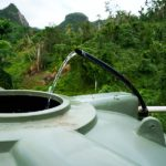 Clean drinking water travels through a series of underground pipes and storage tanks before it reaches the household.