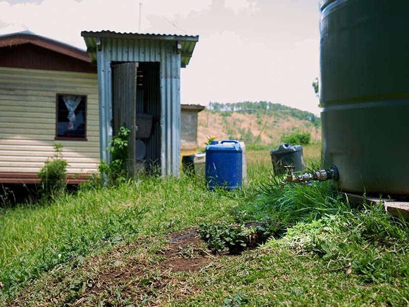With new water supply, the existing flush toilets have become operational.