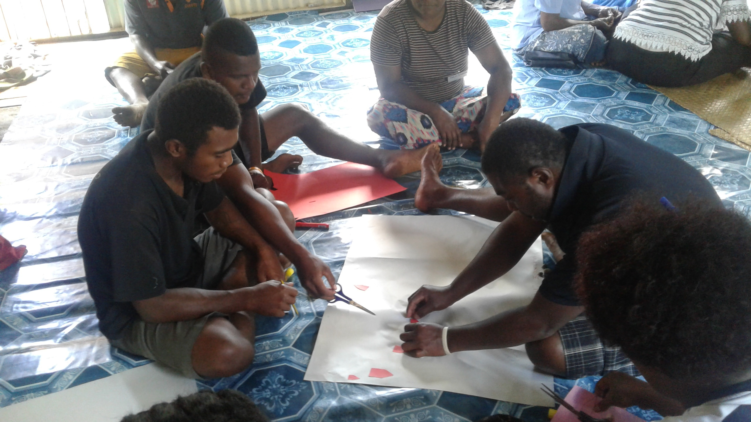 doing community mapping activities in Vatunilose